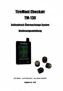 TireMoni TM-130 Handbuch Deutsch